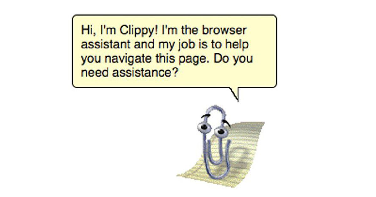 failed products Office Assistant Clippy