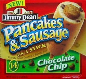 failed products Jimmy Dean Chocolate Chip Pancake-Wrapped Sausage