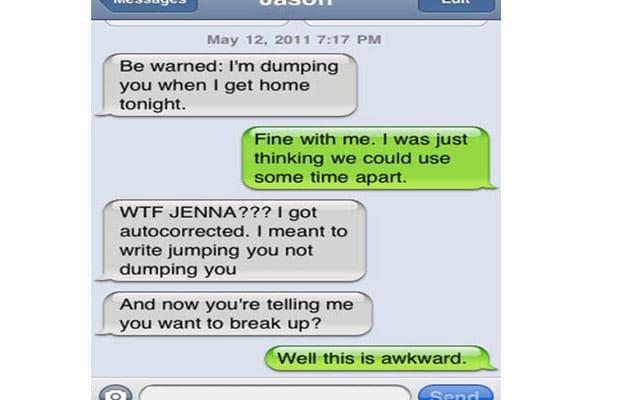 funny breakup textsautocorrect