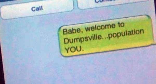 funne breakup texts | dumpsville