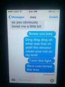funny break up texts elevator