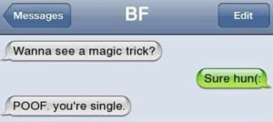 funny break-up texts poof