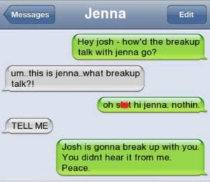 funny break up texts secondhand