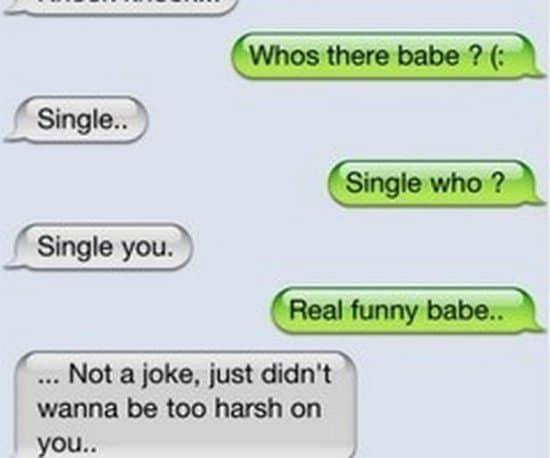 funny breakup texts single who