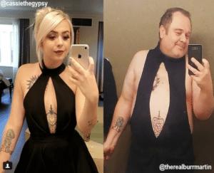 funny parents black dress