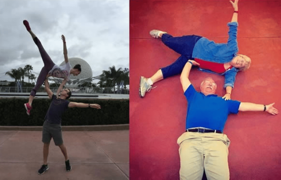 funny parents being gymnast wannabes