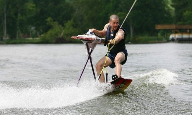 funny sports photos | extreme ironing on the water