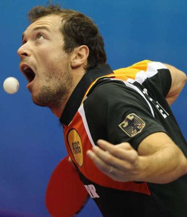 funny sports photos | ball in mouth
