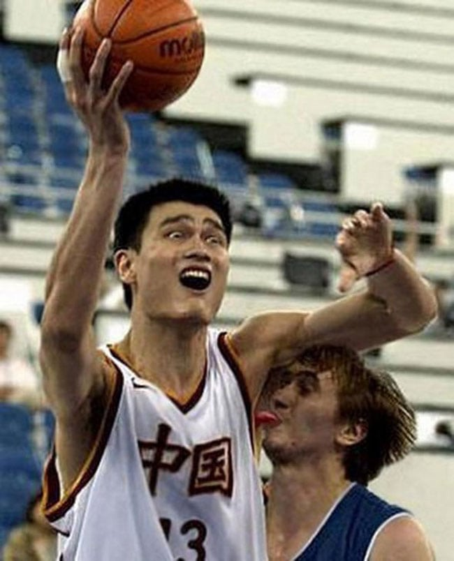 funny sports photos basketball armpit lick