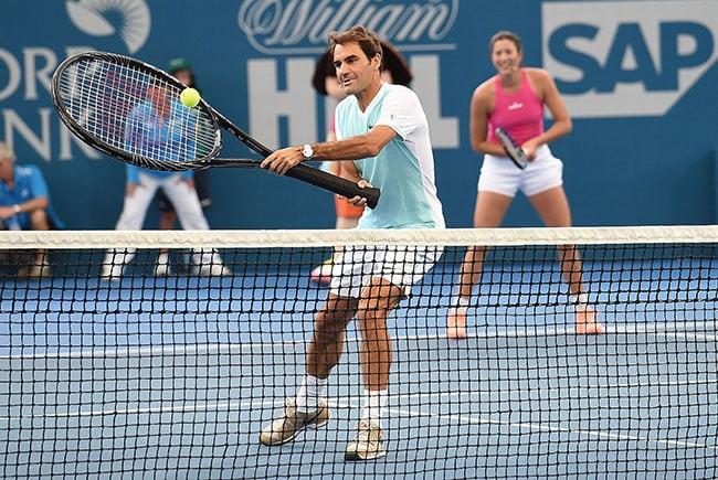 funny sports photos | giant tennis racket