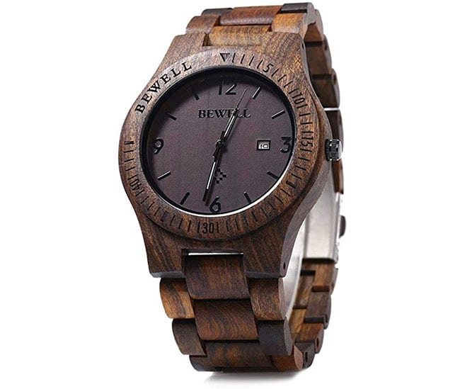 groomsmen gifts - Bewell men's wood wristwatch