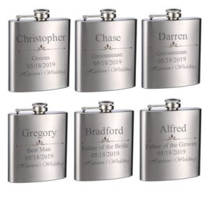 groomsmen gifts engraved flask