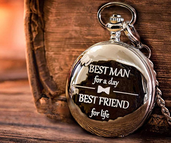 groomsmen gifts - Frederick James engraved pocket watch