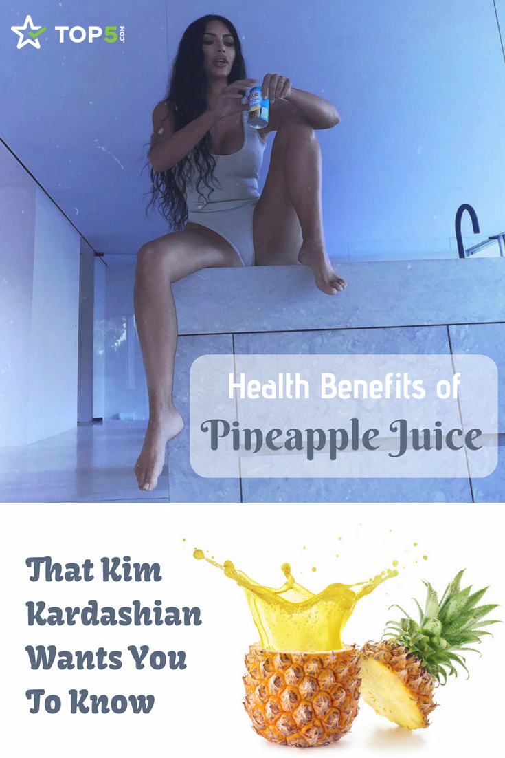 health benefits of pineapple juice Kim Kardashian West wants you to know