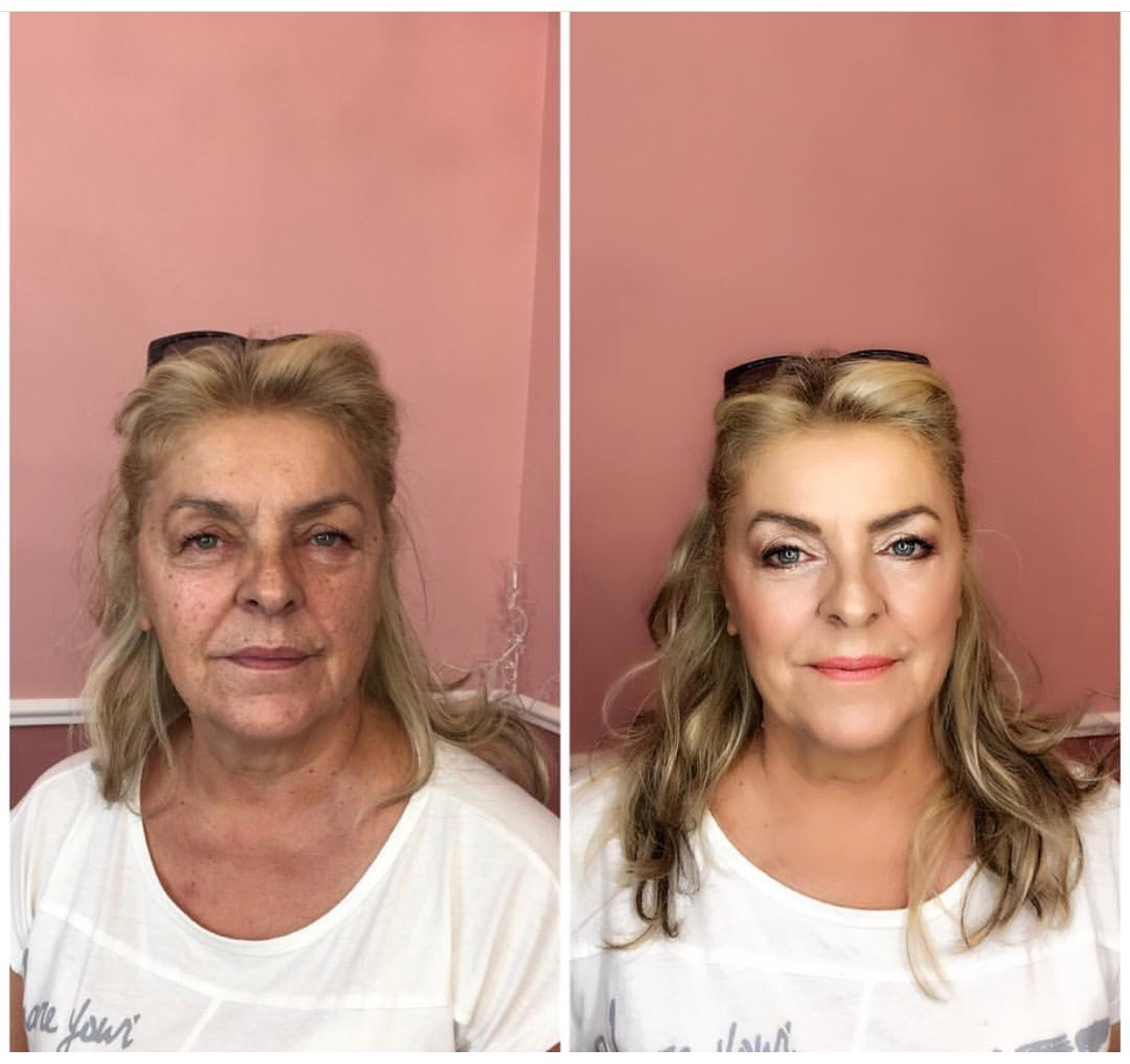 makeup transformations from bare face to full face