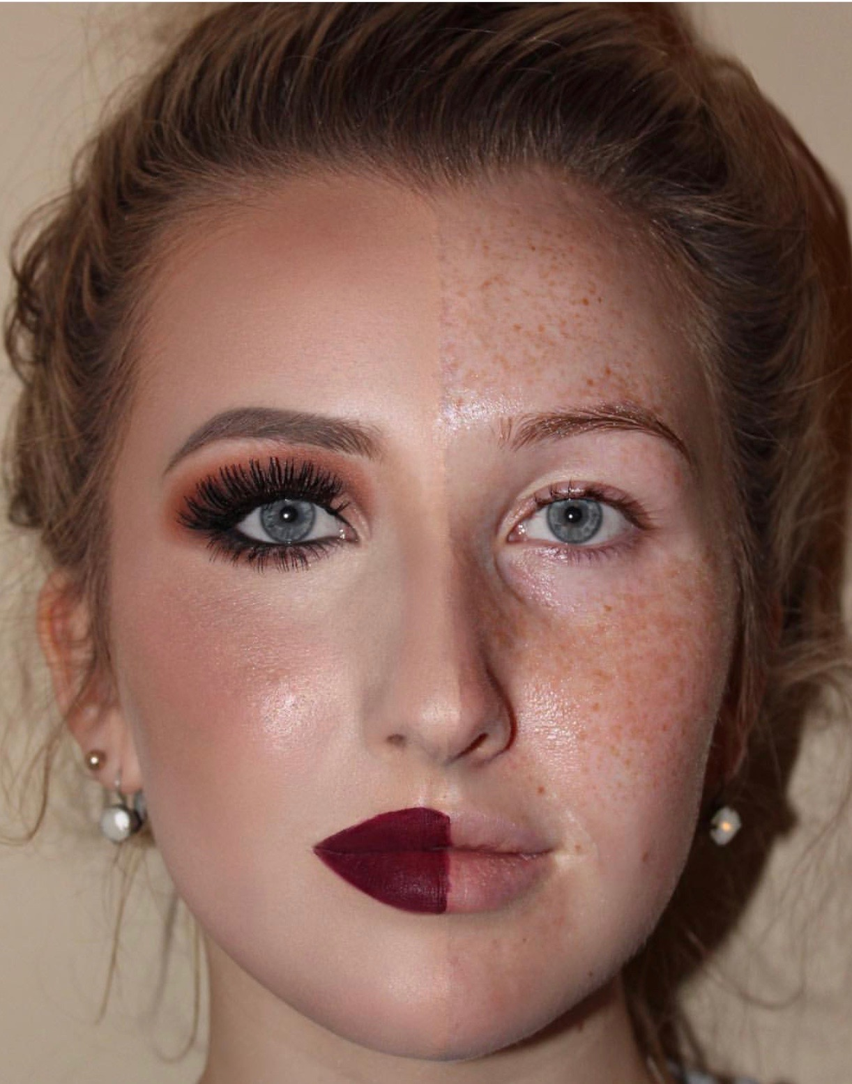 makeup transformations covering freckles
