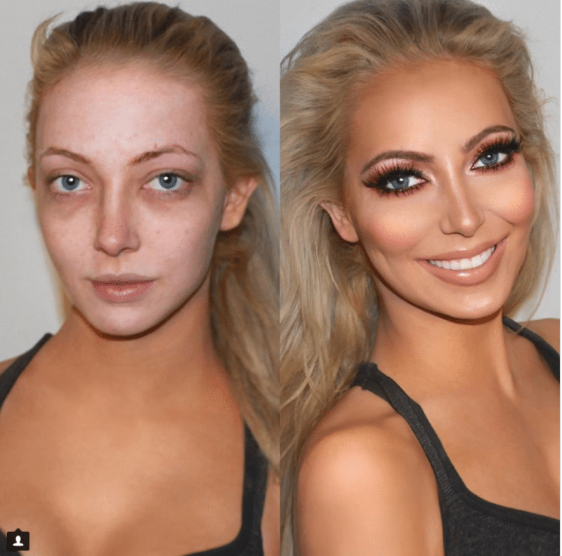highlighter heaven makeup transformations