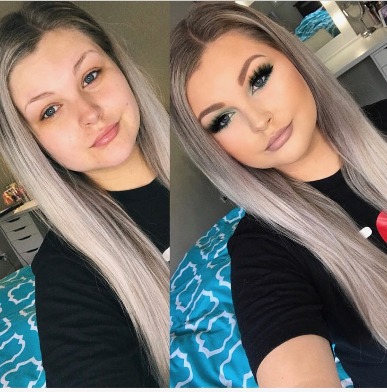 Makeup transformations blended to perfection