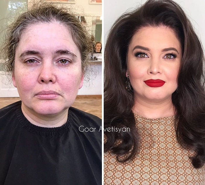 before-and-after stunning makeup transformations