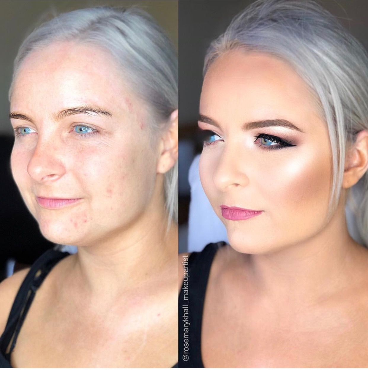 illuminating finish makeup transformations
