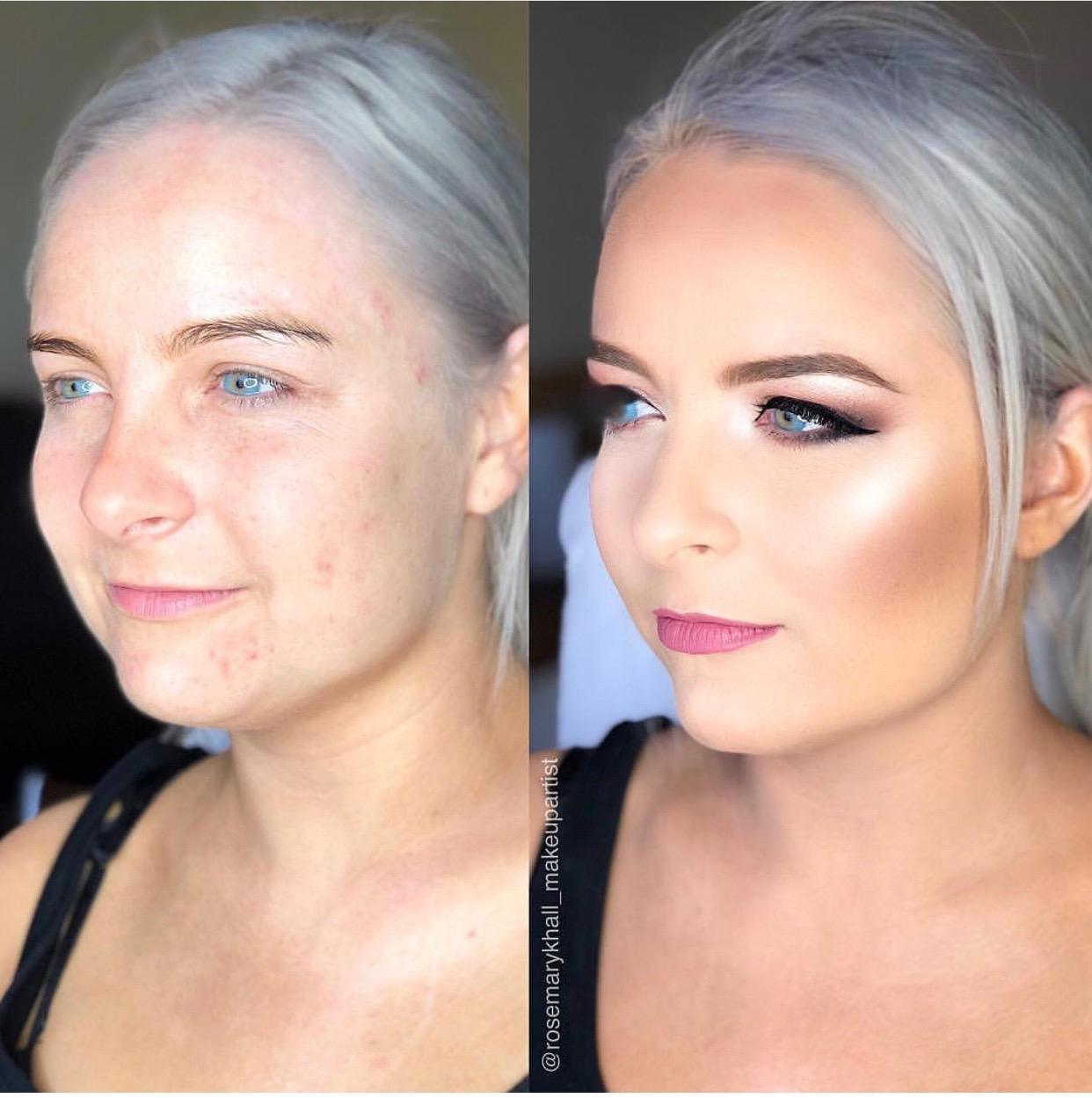 illuminating finish makeup transformations