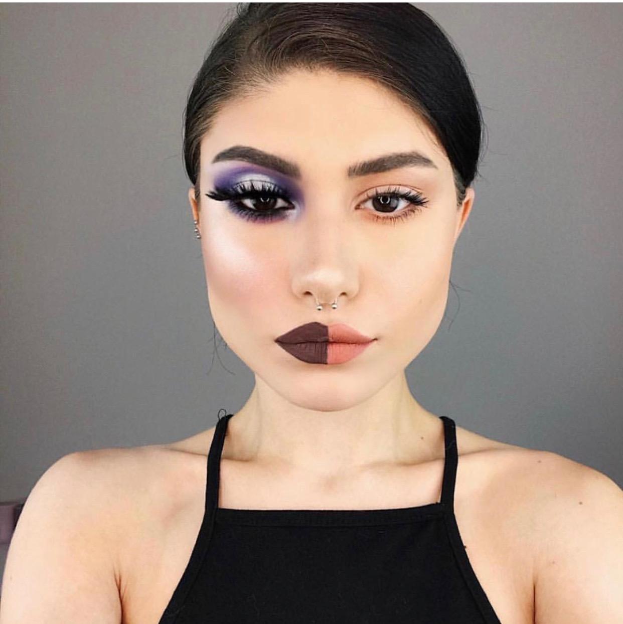 half-and-half makeup transformations