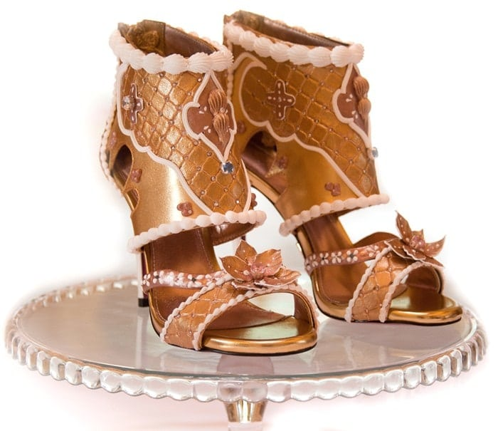 most expensive shoes - debbie wingham diamond and gold heels