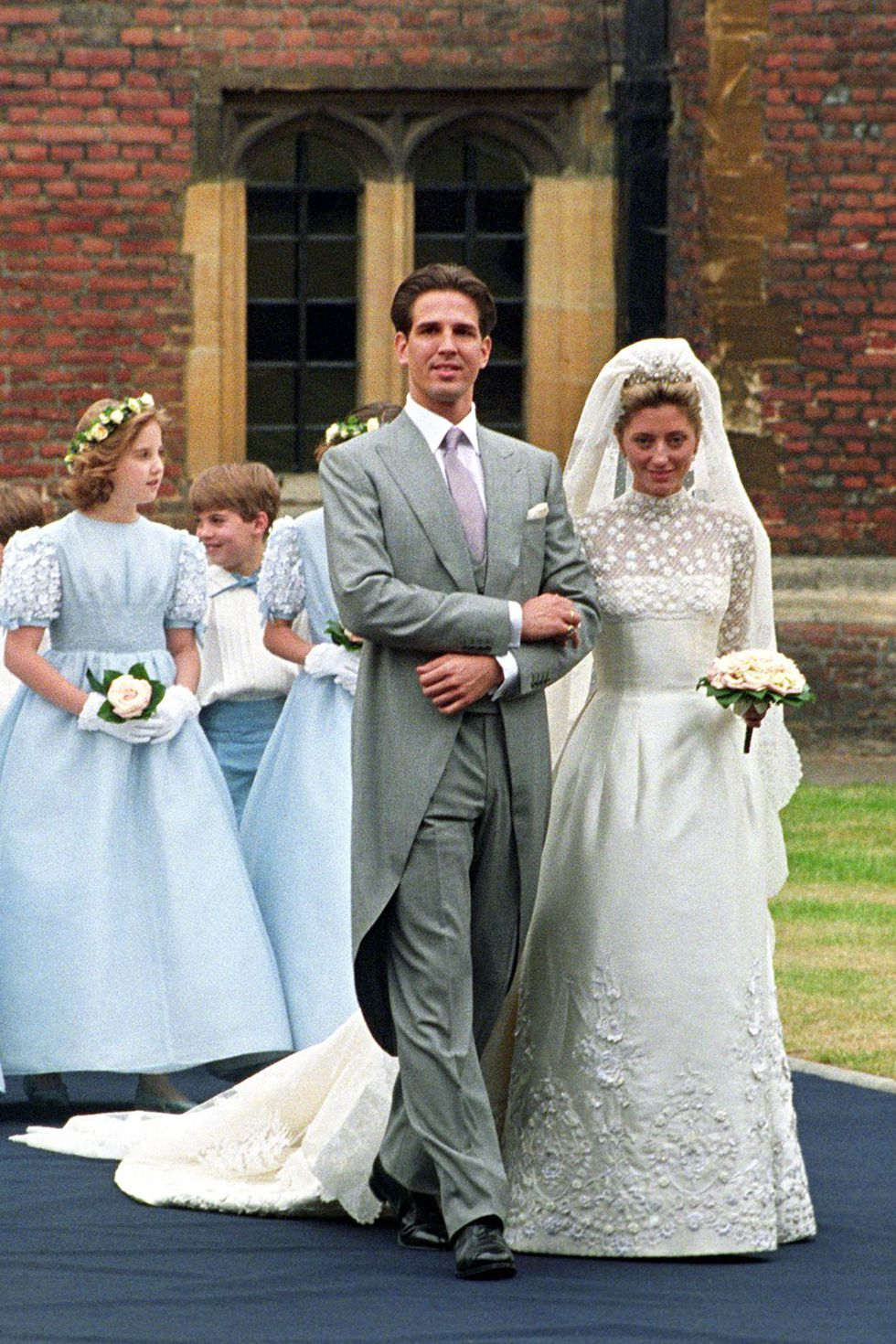 princess marie-chantal royal wedding dresses