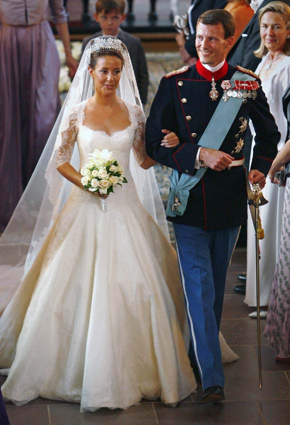 princess marie of denmark royal wedding dresses