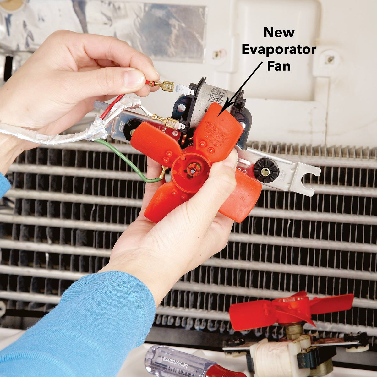 refrigerator repair evaporator fan