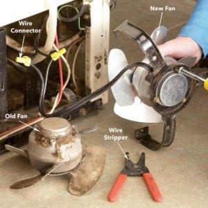 refrigerator repair evaporator fan