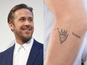 tattooed celebrities Ryan Gosling