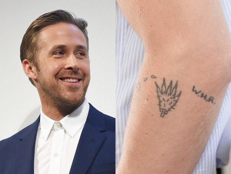 Ryan Gosling small tattoos