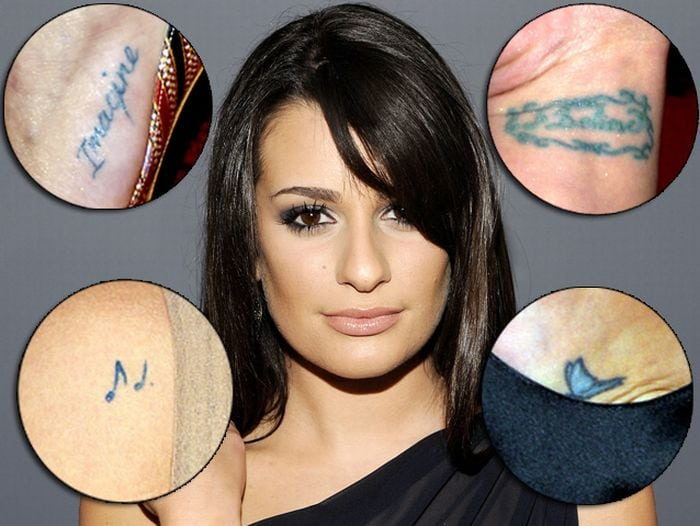Lea Michele tribute tattoos