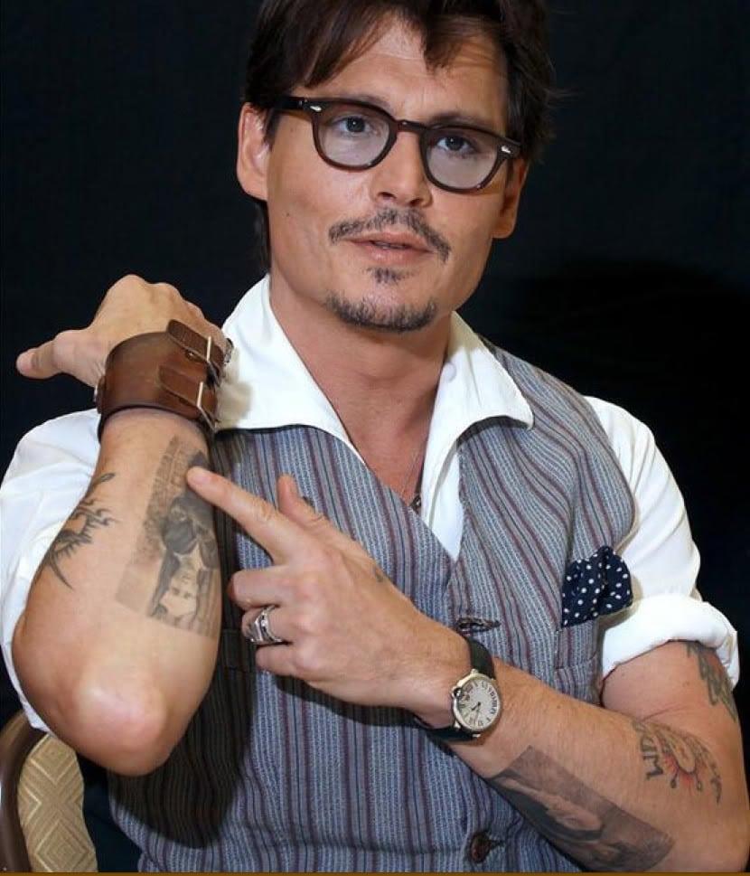 Johnny Depp arm tattoo