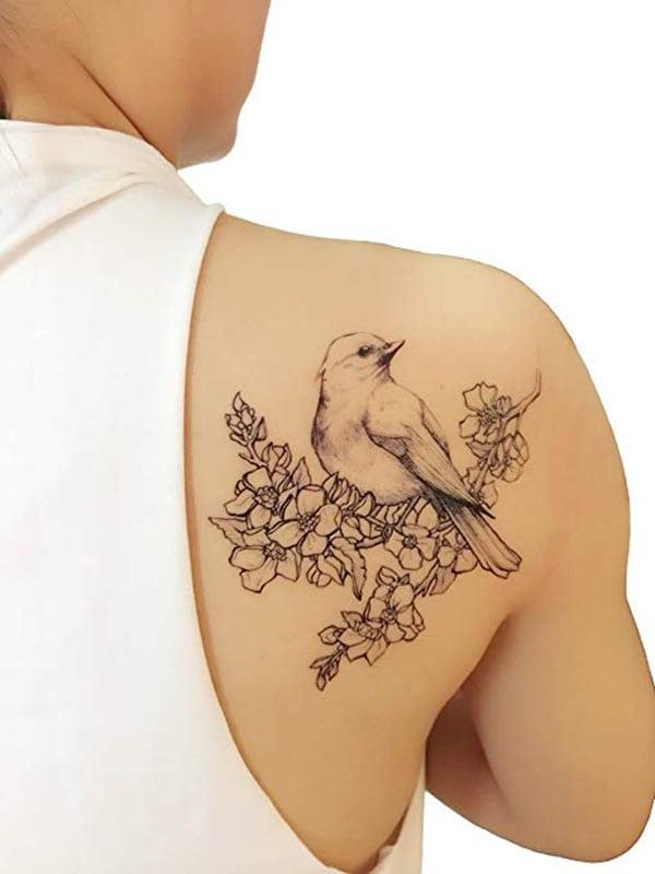 temporary tattoo - bird outline