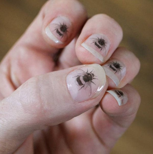 temporary tattoos - bee nail transfers