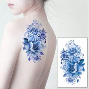 temporary tattoos - big flowers