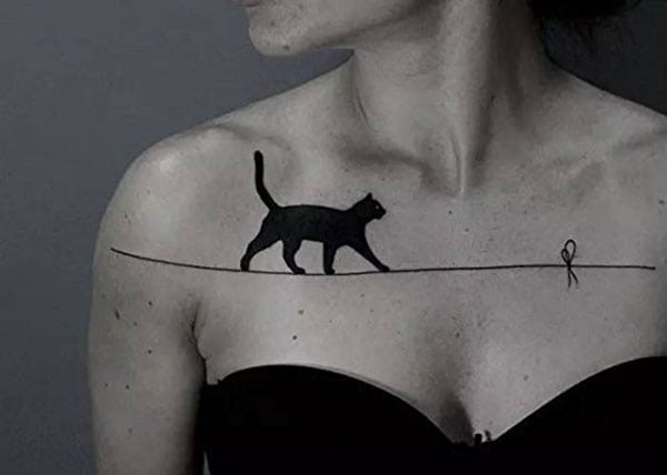 temporary tattoos - black cat