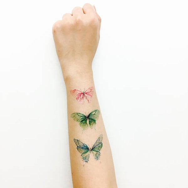 temporary tattoos- butterflies