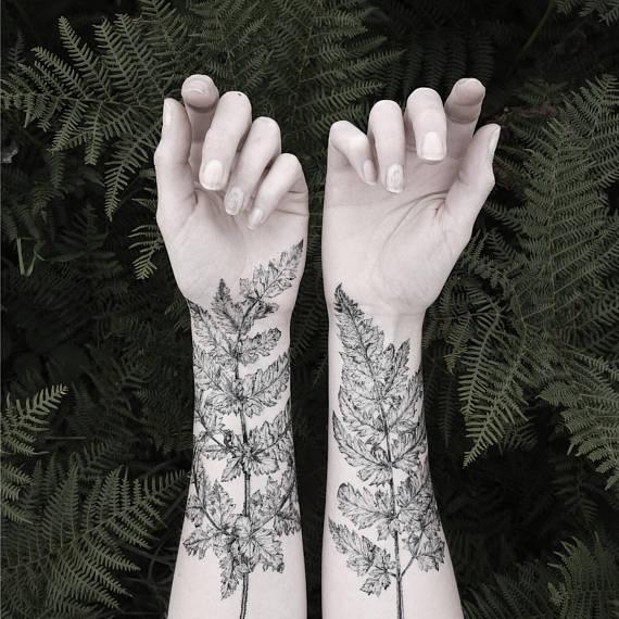 temporary tattoos - fern