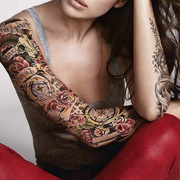 temporary tattoos - full sleeve tattoo