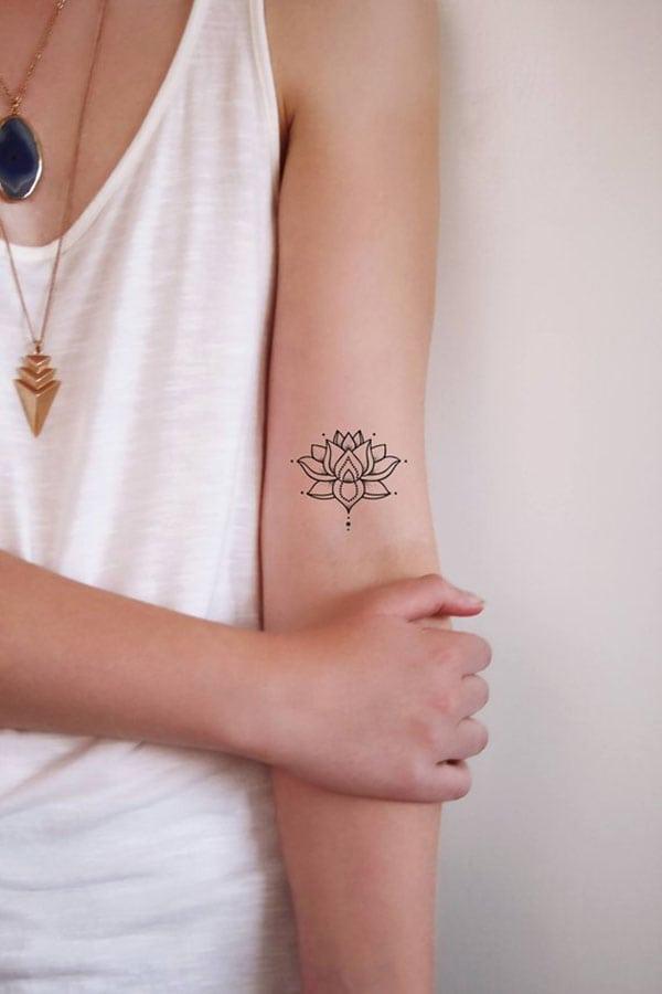 temporary tattoos - lotus flower