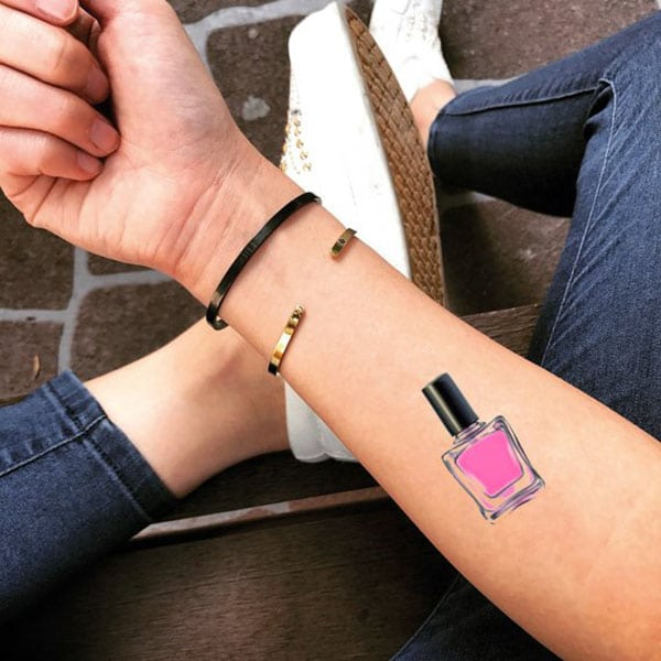 temporary tattoos - nail polish