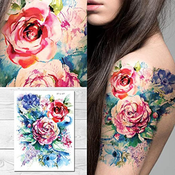 temporary tattoos - pretty floral