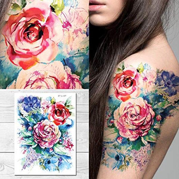 temporary tattoos - pretty floral