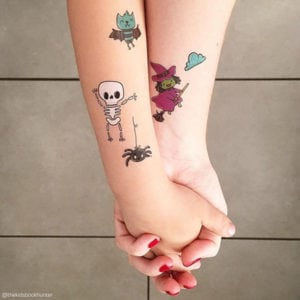 temporary tattoos -spooky collection