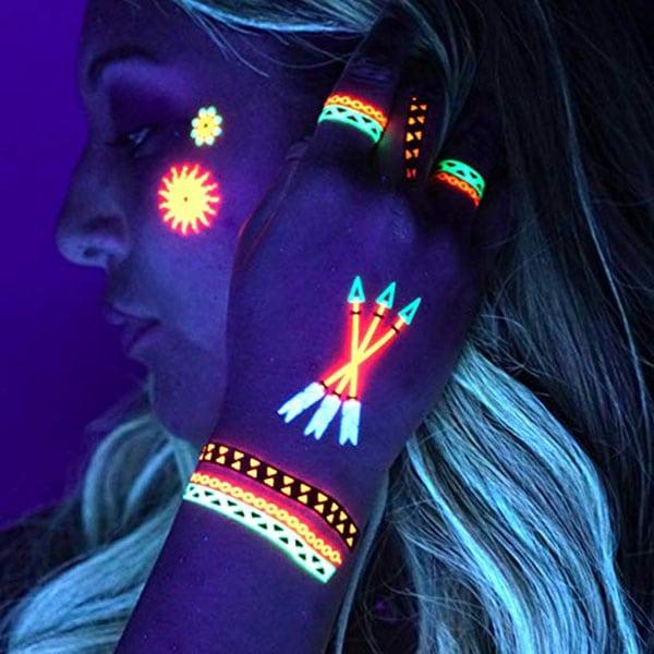 temporary tattoos - uv neon