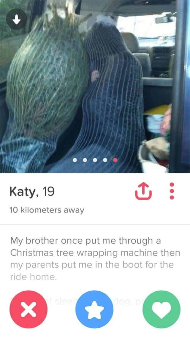 tinder bios christmas