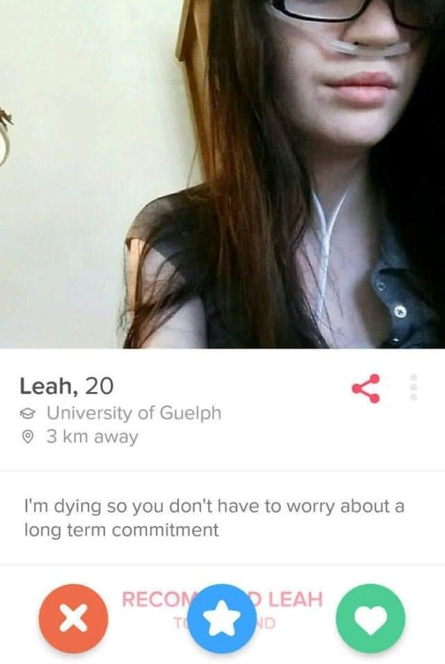 Tinder bios for dying girls